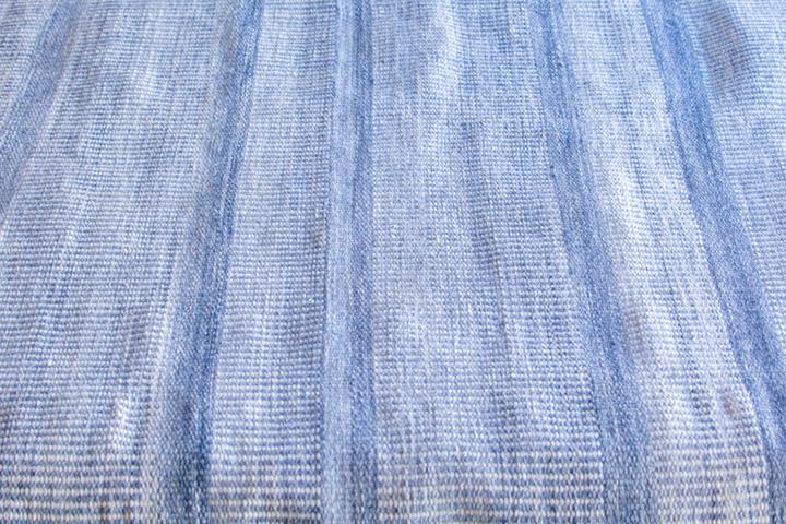 rugmart.jp ハンドウィーブ ポリー アミーゴトナル ストライプ  ブルー キリム |