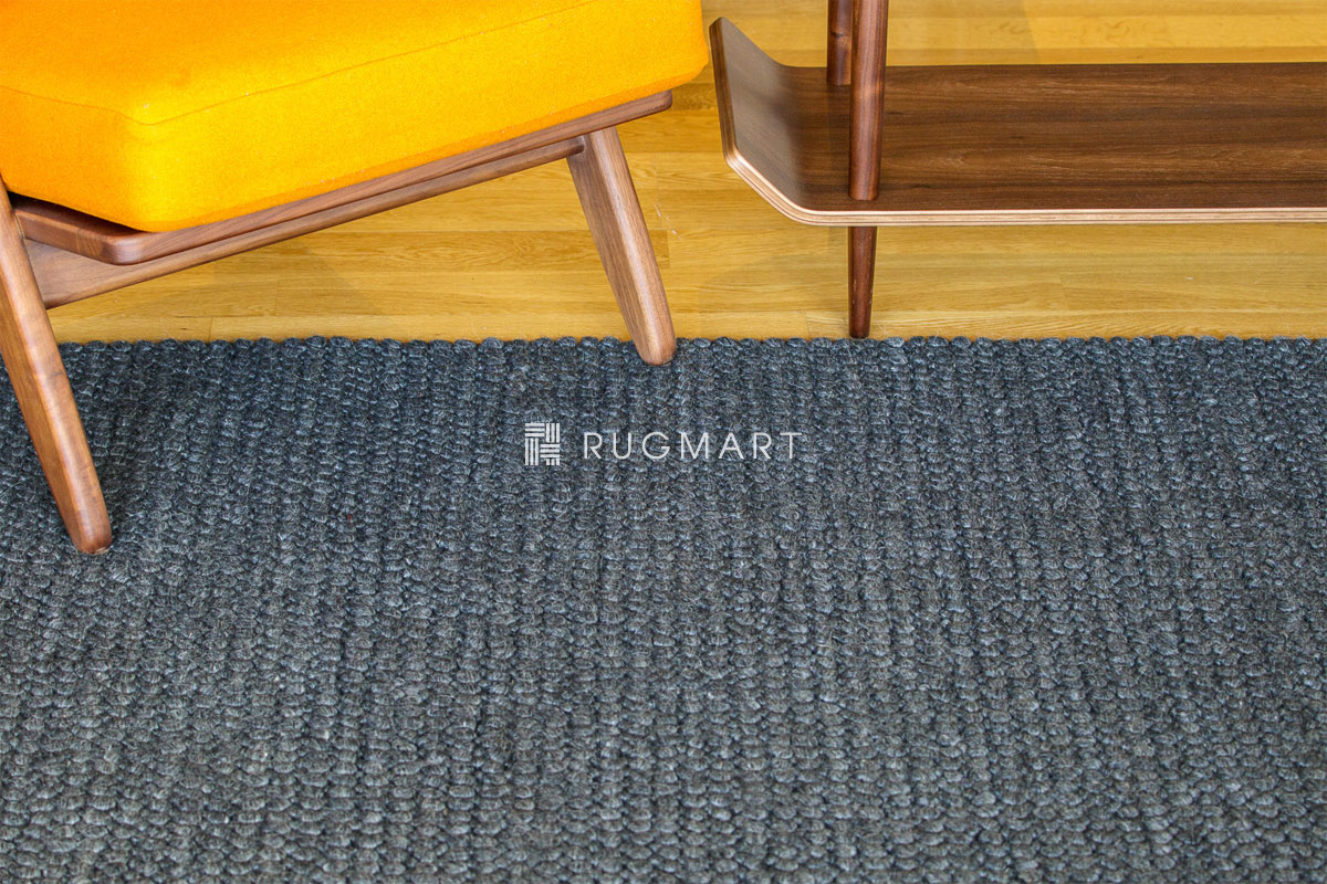 rugmart.jp ウール ループ シャギー CHERRY ダークグレー |