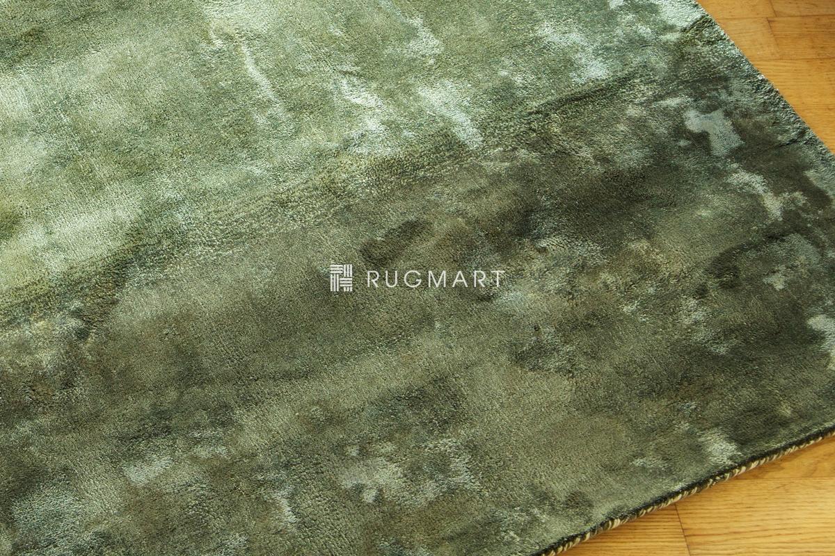 rugmart.jp ハンドルーム ヴィスコース フェード ストライプ  グリーン |