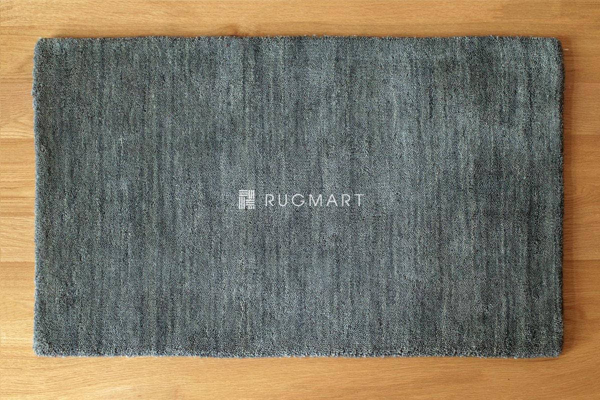 rugmart.jp ハンドルーム ウール ギャッベ ルリ プレーン グレー |
