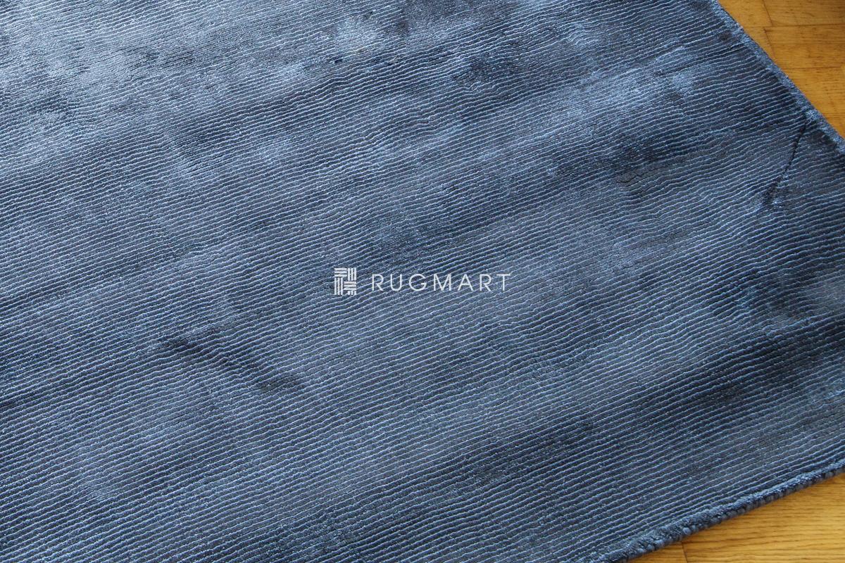 rugmart.jp ハンドウィーブ ヴィスコース ROMO ミッドナイト ラグ |